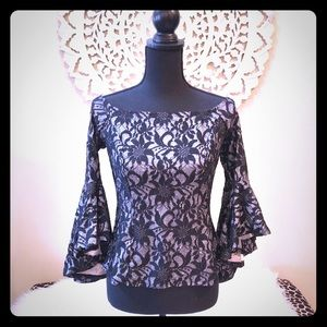 Venus Embroidered Bell Sleeve Top 🌟
